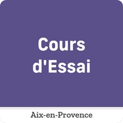 Image de COURS D'ESSAI- Mercredi 2 Juin de 14:00 à 15:30 Aix